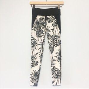 Betsey Johnson  palm leaf print workout leggings